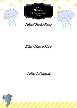 Natural Phenomenon KWL Chart