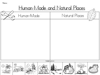 Natural Places vs. Human-Made Places