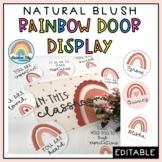 Natural Rainbow Door Display | Positive Affirmation Door