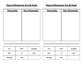 Natural (Renewable and Nonrenewable) Resources Cut & Paste