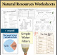 Natural Resource Activity Packet