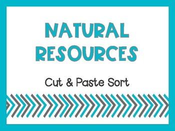 Natural Resource Interactive Notebook Sort