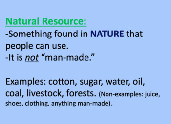 Natural Resources PowerPoint Activity