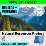 Natural Resource Research Project - 100% Editable