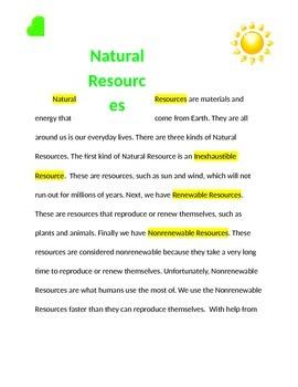 Natural Resource Short Passage