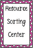 Natural Resource Sort Center