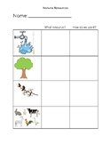 Natural Resource Worksheet