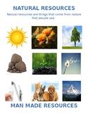 Natural Resource and Man Made Anchor Chart