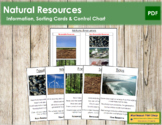 Natural Resources - Information, Sorting Cards & Control Chart