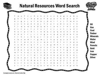 Natural Resources Worksheet | Natural Resources Grade 1