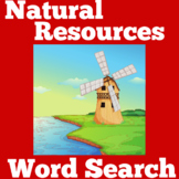 Natural Resources Worksheet Activity