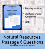 Natural Resources Reading Passages and Questions (Distance Learning)