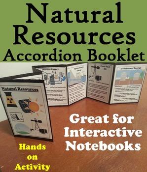 Natural Resources Activity: Renewable and Nonrenewable, Fossil Fuels, Solar, etc