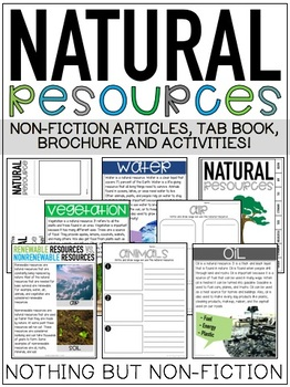 Natural Resources Reading Passages and Activities