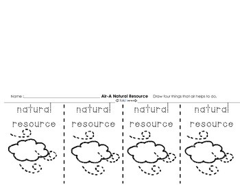 Natural Resources Activities Pack