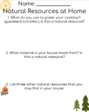 Natural Resources Activity Sheet