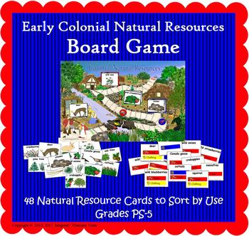 Natural Resources Board Game  (Included in Nat Resources of Colonial America)