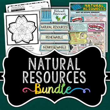 Natural Resources Bundle - Renewable and Nonrenewable Energy - Save 30%