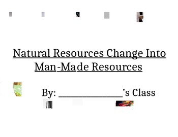 Natural Resources Change Into Manmade Resources Book Cover Page