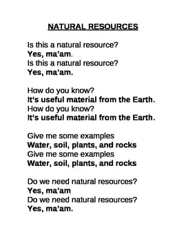 Natural Resources Chant