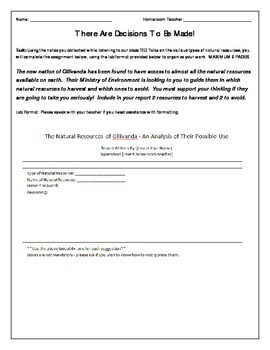 Natural Resources - Determining Which To Use