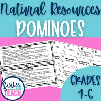 Natural Resources Dominoes Game {Renewable & Nonrenewable}