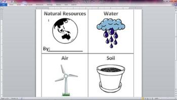 Natural Resources Flip Book