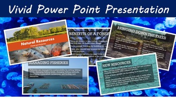 Forest and Fisheries Lesson with Power Point, Worksheet, and Ethics Activity