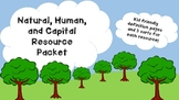 Natural Resources, Human Resources, Capital Resource - Sor