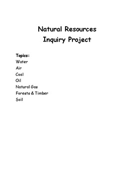 Natural Resources Inquiry Project