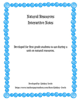 Natural Resources Interactive Notes