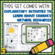 Natural Resources- Lesson & Activities Grades 4-6