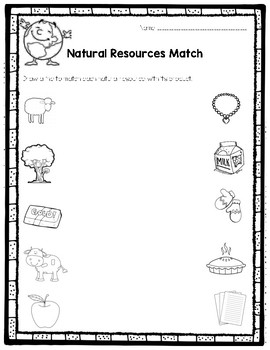 natural resources match by abby hudson teachers pay teachers. Black Bedroom Furniture Sets. Home Design Ideas