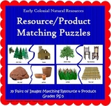 Natural Resources Matching Puzzles (Included in Nat Resources Colonial America)