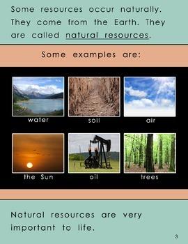 """Natural Resources"" –Original Book (1st-Grade Level)"