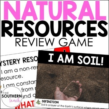 What Am I? Natural Resources Game
