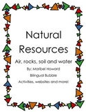 Natural Resources Packet and more (soil, air, rocks and water)