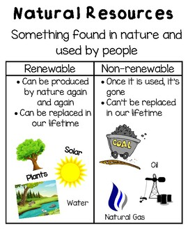 Natural Resources Posters & Worksheets | Teachers Pay Teachers