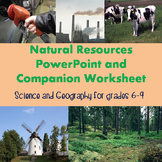 Natural Resources PowerPoint and Worksheet