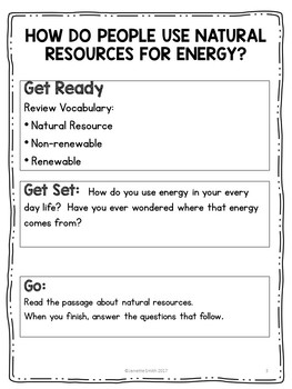 Natural Resources:  Renewable and Non-Renewable