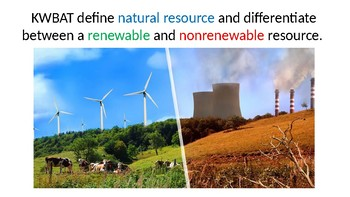 Natural Resources - Renewable and Nonrenewable PPT
