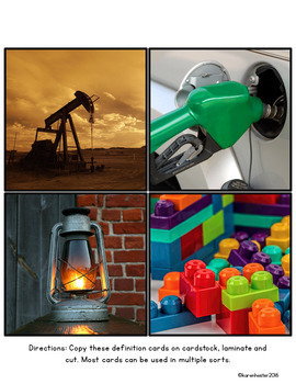 Natural Resources: Science Picture Sorts