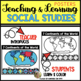 CONTINENTS: Geography & Mapping Social Studies Poster Kind