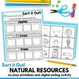 Natural Resources Sort (Digital Version Included)