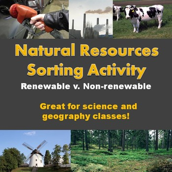 Natural Resources Sorting Activity
