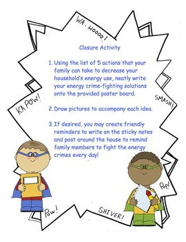 """Energy Heroes to the Rescue!"" - Natural Resources Take-Home Kit"