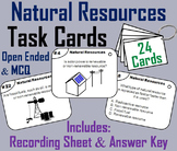 Renewable and Nonrenewable Natural Resources Task Cards