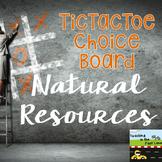 Natural Resources TicTacToe Extension Activities