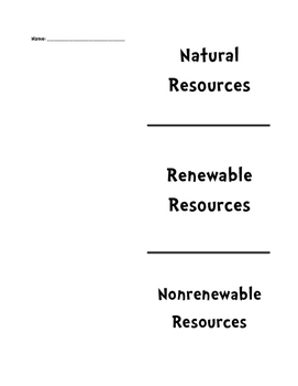 Natural Resources Tri-Fold Template