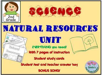 Natural Resources Unit 2nd Grade No Prep!